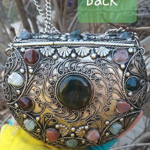 Handmade metal purse